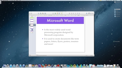 Thumbnail for entry Microsoft Word 2011-Getting Started