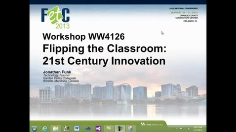Thumbnail for entry Welcome to Hybrid Learning @ FETC 2013