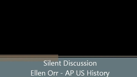 Thumbnail for entry Silent Discussion