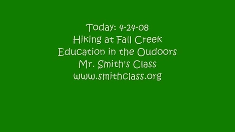 Thumbnail for entry Hiking Education