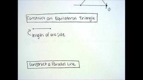 Thumbnail for entry Constructions - Equilateral Triangle