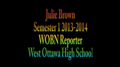 Thumbnail for entry Julie Brown's WOBN First Semester Porfolio 2013 holla