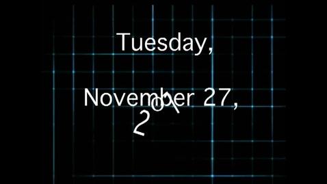 Thumbnail for entry Tuesday, November 27, 2012