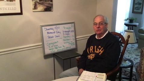 Thumbnail for entry Mr. Farnham's Thursday May 21st Message