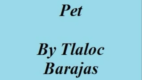 Thumbnail for entry Pet Photo Story
