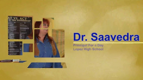 Thumbnail for entry Lopez High School Principal for a Day 2.15.13