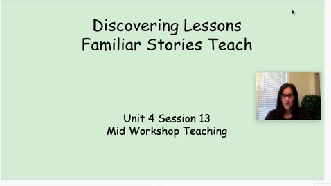 Thumbnail for entry RW Unit 4 Session 13 Life Lessons Mid Workshop TP