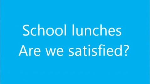 Thumbnail for entry School Lunches
