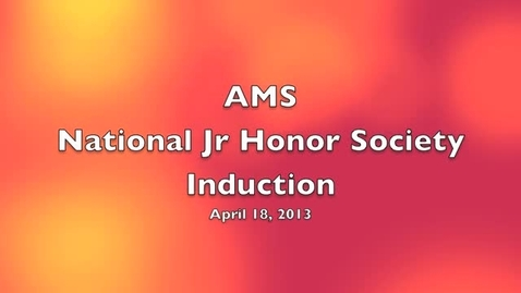 Thumbnail for entry Anson Middle School National Junior Honor Society Induction 2013