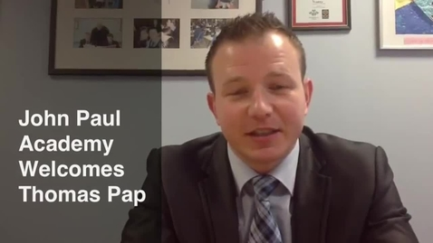Thumbnail for entry John Paul Academy Welcomes Thomas Pap