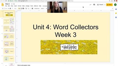 Thumbnail for entry Week 3 Phonics