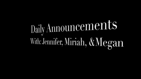 Thumbnail for entry Daily Announcements 2-17-10