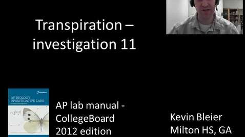 Thumbnail for entry Investigation 11 - transpiration