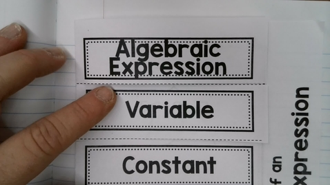 Thumbnail for entry Algebraic Expression Parts and simplify
