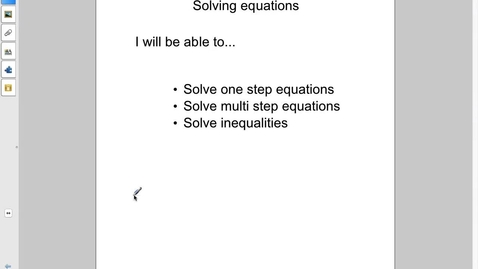 Thumbnail for entry Station 4 Solving equations