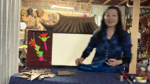 Thumbnail for entry 4thGr Chinese ShadowPuppet Theater T.HuaHua Lesson 6