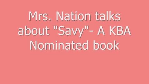 Thumbnail for entry MWMS Book Talk-Savy
