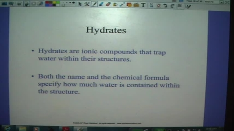 Thumbnail for entry Nomenclature 6- Hydrates