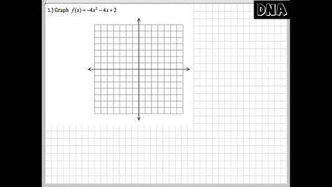 Thumbnail for entry Graphing Quadratic Functions with at least 5 Points