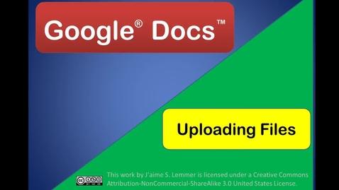 Thumbnail for entry Google® Docs™  File Management