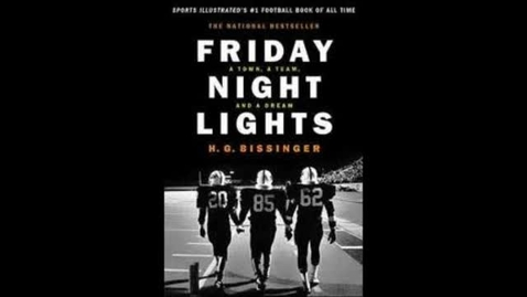 Thumbnail for entry friday night lights H.G Bissinger