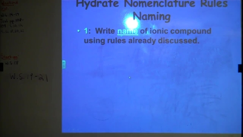 Thumbnail for entry Writing Hydrate Names and Formulas