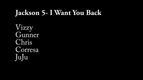 Thumbnail for entry I Want You Back - WSCN 2015/2016