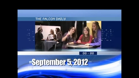Thumbnail for entry The Falcon Daily  September 5, 2012