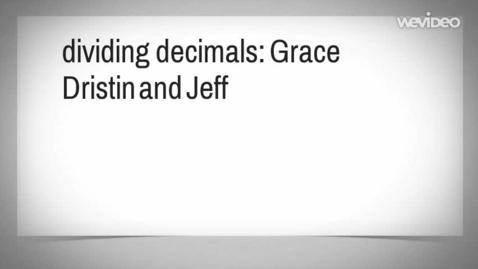 Thumbnail for entry Divide Decimals Tutorail