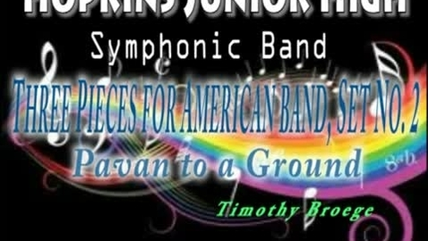 Thumbnail for entry 3 Pieces for American Band Set 2
