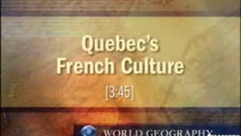 Thumbnail for entry Quebec's French Culture