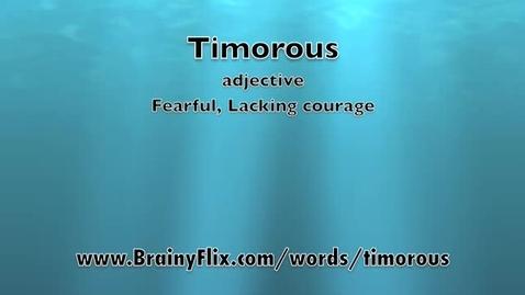 Thumbnail for entry Timorous-BrainyFlix.com Vocab Contest