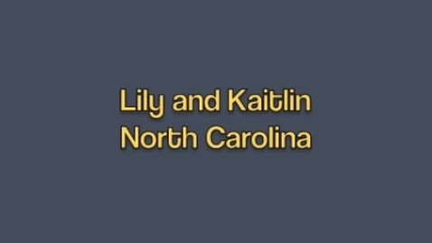 Thumbnail for entry North Carolina Ad by Lily & Kaitlyn