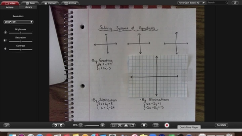 Thumbnail for entry Alg1 Review of Solving Systems