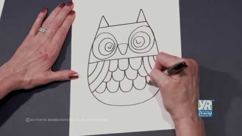 Thumbnail for entry How to Draw an Owl #2