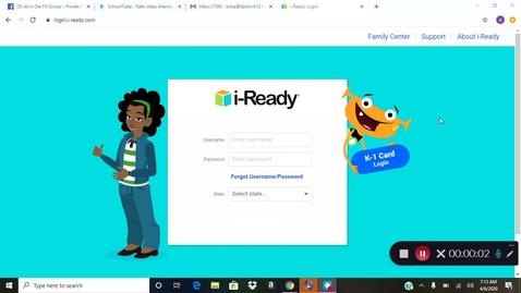Thumbnail for entry i Ready diagnostic login