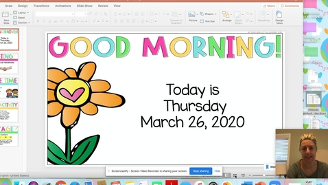 Thumbnail for entry March 26 Morning Meeting