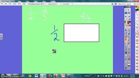 Thumbnail for entry Multiplying fractions with models