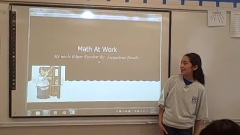 Thumbnail for entry Jacquelynne Z math career