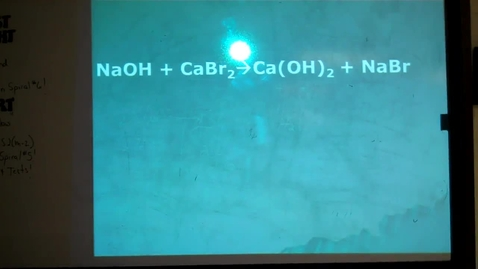 Thumbnail for entry Unit 6 White Board Practice Balancing Chemical Reactions