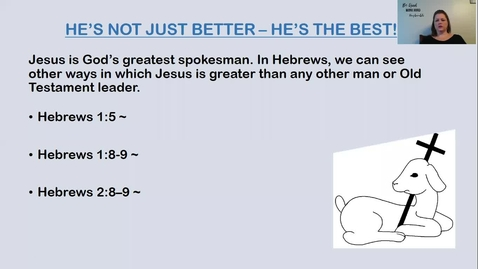 Thumbnail for entry Bible 7A/ 7C Hebrews part 2