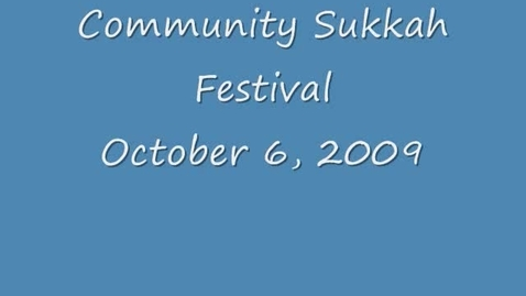 Thumbnail for entry Community Sukkah Festival