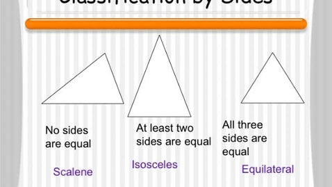 Thumbnail for entry 4.1 Classifications of Triangles