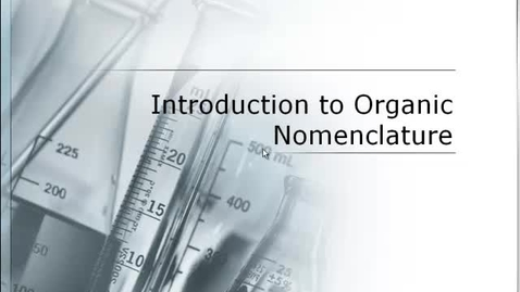 Thumbnail for entry Introduction to Organic chemistry