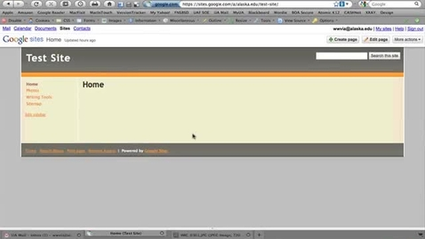Thumbnail for entry Google Sites 04 - Editing the Sidebar, Part 1