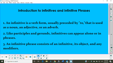 Thumbnail for entry Introduction to Infinitives