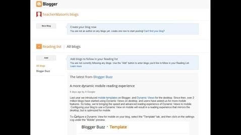Thumbnail for entry Blogger Setup