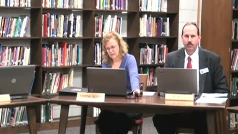 Thumbnail for entry School Board Meeting 01/12/12