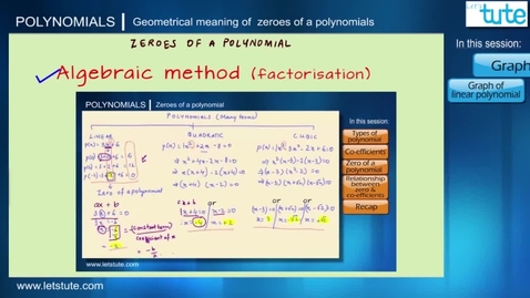 Thumbnail for entry 04 - Geometrical Meaning Of Zeroes Of A Polynomial