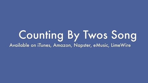 Thumbnail for entry Counting By Twos Song